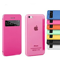 Окно экрана PU кожаный чехол для всего тела iPhone 5с (ассорти цветов)
