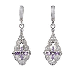 Earring Drop Earrings Jewelry Party / Daily / Casual Silver / Sterling Silver Silver