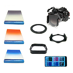 Zomei 7IN1 Square Graduated  Blue/Grey/Yellow Filters +Shackle+Lens Hood+Bag