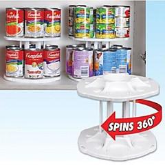 plástico blanco 2 capas separables 14 capacidad puede domador organizador de almacenamiento