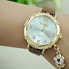 kvinders sæt snegl blomme blomst pu quartz ur (assorterede farver)