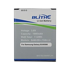 blithe 1900mAh batteri til Samsung Galaxy S3 SIII GT-i9300 I535 I747 t999 [ikke NFC-færdigpakket]