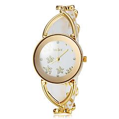 Dames Modieus horloge Armbandhorloge Polshorloge Japans Kwarts Legering Band Bloem Elegante horloges Wit Goud Goud Zilver Goud Rose