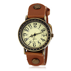 Women's Bronze Case PU Band Quartz Wrist Watch (Assorted Colors) Cool Watches Unique Watches Fashion Watch