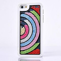 LUXURY Rhinestone Semicircle Rainbow Back Cover Case for iPhone 5/5S(Assorted Colors)