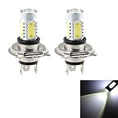 HJ  H4 7.5W 700lm 6000-6500K 5* COB  Bulb for Car Foglight  White Light (12-24V, 2Pcs)