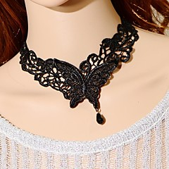 Black Choker Necklaces / Collar Necklaces / Vintage Necklaces Wedding / Party Jewelry