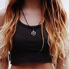 Shixin® Fashion Compass Shape Alloy Pendant Necklace(1 Pc)