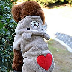 patrón de corazón lindo oso forma traje con capucha para perros de diferentes tamaños