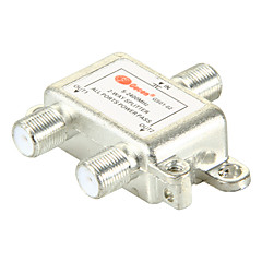 2 Way Satellite TV Antenna Coaxial Power Splitter Silvery