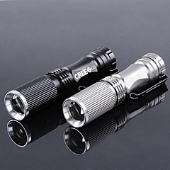 LT-BG XPE 1-Mode 1×Cree XPE Zoom LED Flashlight(500LM,1×14500 or 1×AA,Black/Silver/black)