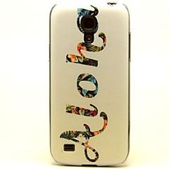 patrón flores hawaiana estuches de plástico duro para los mini i9190 Samsung Galaxy s4