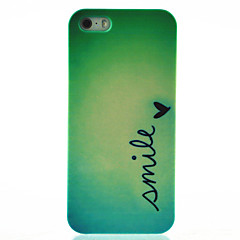Smile Butterfly Pattern Hard Back Cover Case for iPhone 4/4S