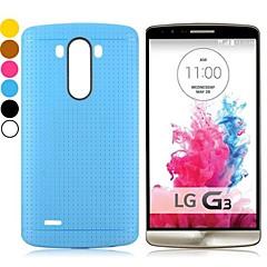 effen kleur mesh patroon ontwerp gel TPU Cover Case voor LG g3 D850 (verschillende kleuren)
