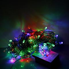 10m 100 LED Weihnachten Halloween dekorative Leuchten festlichen Streifenlichter-gewöhnliche Lichterketten rgb (220 V)