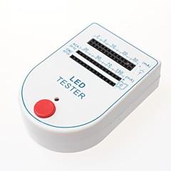 Mini LED testeri testi laatikko - valkoinen + sininen (1 x 9V paristo)