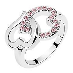 Beautiful Shape Fashion Love Diamonds Shine Beautiful Lady Ring Gift