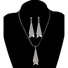 Fashion Double Triangle Shape Jewelry Set(1 Set)