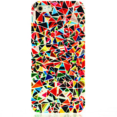 Triangular Floral Pattern Hard Case Cover for iPhone 4/4S