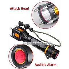 Lampes Torches LED Mode 1000 Lumens Faisceau Ajustable / Rechargeable / Résistant aux impacts / Surface antidérapante / Tête crénelée