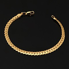 U7® Men's 18K Chunky Gold Filled Figaro Chain Bracelet  With '18K' Stamp High Quality for Men 6MM 21CM Christmas Gifts