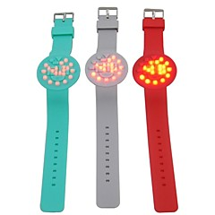 Men LED Touch Screen Sicicon Band Wrist Watch(Assorted Color)