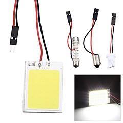 Merdia Festoon 2.5W COB 150LM 6000K 24SMD LED Cool White Light for Car License Plate Light / Reading Lamp