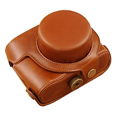 Dengpin® Leather Protective Camera Case Bag Cover Oil Skin with Shoulder Strap for Canon PowerShot G1X Mark II G1X M2