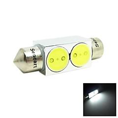 36 millimetri 2w 2xcob 140-160lm 6500-7500k luce bianca LED per auto lettura Lampada / licenza (DC12V)