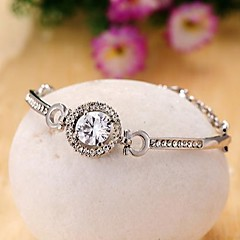 Fashion Zircon Imitation Diamond Alloy Bangles Bracelets for Women in Jewelry