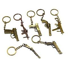 במחזיק מפתחות סגסוגת ברונזה אקדח בציר (1 PC)