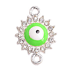 Alloy Green Round Eye Connectors for Bracelet