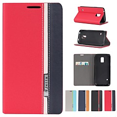 Assorted Colors PU Leather Full Body Case with Stand and Card Slot for Samsung  Galaxy S5 Mini