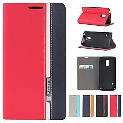 valikoituja värejä PU nahka koko kehon kotelo jalustalla ja korttipaikka Samsung Galaxy S5 Mini