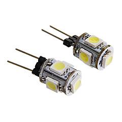 G4 1W 5x5050SMD 60LM Warm/Cool White Light LED Corn Bulb (12V 2PCS)