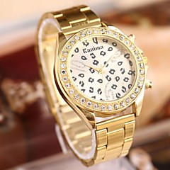 Women's Fashion Sexy Leopard Rhinestones Steel Belt Watch Cool Watches Unique Watches Strap Watch