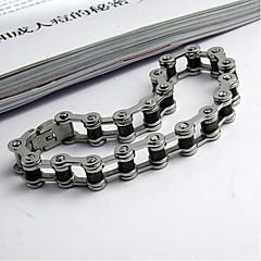 Men's Fashion Personality Non Mainstream Hollow Titanium Bicycle Steel Bracelets