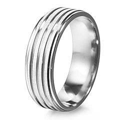 Ring Party / Daily / Casual Jewelry Stainless Steel Women Band Rings6 / 7 / 8 / 9 / 10 / 11 / 12 Silver