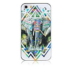 Elephant Pattern Black Frame Back Case for iPhone 4/4S