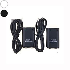 2 X USB Charger Cable +Battery Pack For XBOX 360 Wireless Controller