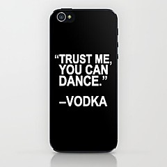 TRUST ME Pattern Hard Case for iPhone 5/5S