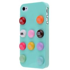 dobrej jakości plastik podłubać mocno plecy skrzynki dla iPhone 4 / 4S