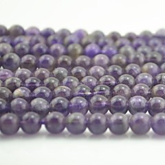 Toonykelly®Cute Round Small Purple Amethyst  DIY Beads 65Pc/Bag