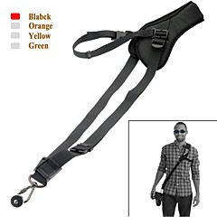 Neck Shoulder Camera Strap Single Shoulder Sling Black Belt Strap for SLR DSLR-Black/Orange/Yellow/Green