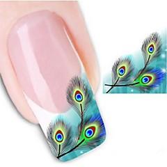 Nagelkunst sticker Watertransfer decals 3D Nagelstickers Cartoon Abstract make-up Cosmetische Nagelkunst ontwerp