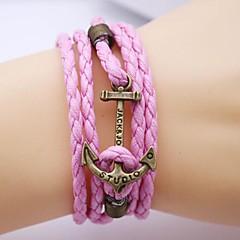 Vintage Anchor PU Handmade Bracelet Jewelry