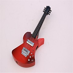 voksne svarte og røde metall gitar lightere leker