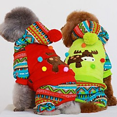 Dog Coat / Hoodie Red / Green Winter Christmas Cosplay / Christmas