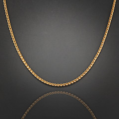 75cm,4mm,18K Gold Plated Figaro Chain Men's Braided Chain Necklace,Uneasy Fade Jewelry