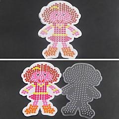 1pcs πρότυπο σαφείς χάντρες ασφάλεια pegboard κορίτσι μοτίβο κόρη για 5 χιλιοστά χάντρες hama diy παζλ